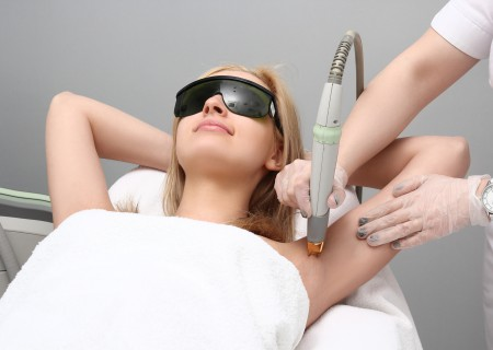 Laser Hair Removal treatment with IPL, Hairy area